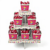Playful Butterfly and Flowers - Birthday Party Candy Stand and 13 Candy Boxes