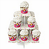 Playful Butterfly and Flowers - Birthday Party Cupcake Stand and 13 Cupcake Wrappers