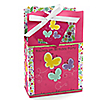 Playful Butterfly and Flowers - Personalized Birthday Party Favor Boxes