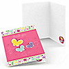 Playful Butterfly and Flowers - Birthday Party Thank You Cards - 8 ct