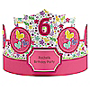 Playful Butterfly and Flowers - Personalized Birthday Party Hats - 8 ct