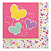 Playful Butterfly and Flowers - Birthday Party Luncheon Napkins - 16 ct