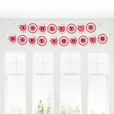 Playful Butterfly and Flowers - Personalized Baby Shower Garland Banner