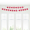 Playful Butterfly and Flowers - Personalized Birthday Party Garland Letter Banner