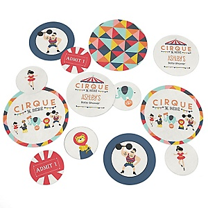 Circus / Carnival - Cirque du Bebe - Personalized Baby Shower Table Confetti - 27 ct