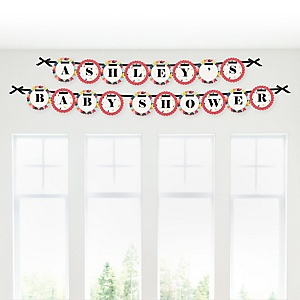 Circus / Carnival - Cirque du Bebe - Personalized Baby Shower Garland Letter Banners