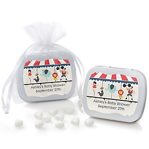 Circus / Carnival - Cirque du Bebe - Mint Tin Personalized Baby Shower Favors