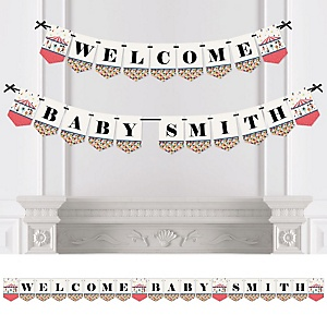 Circus / Carnival - Cirque du Bebe - Personalized Baby Shower Bunting Banner