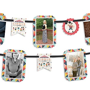 Circus / Carnival - Cirque du Bebe - Baby Shower Photo Bunting Banner