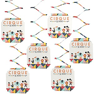 Circus / Carnival - Cirque du Bebe - Baby Shower Hanging Decorations - 6 Count