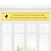 Neutral Baby Carriage - Personalized Baby Shower Banners