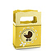Neutral Baby Carriage - Personalized Baby Shower Mini Favor Boxes