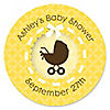 Neutral Baby Carriage - Personalized Baby Shower Sticker Labels - 24 ct