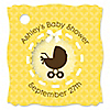 Neutral Baby Carriage - Personalized Baby Shower Tags - 20 ct