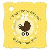 Neutral Baby Carriage - Personalized Baby Shower Tags - 20 Count