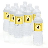 Neutral Baby Carriage - Personalized Baby Shower Water Bottle Labels