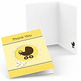 Neutral Baby Carriage - Baby Shower Thank You Cards - Set of  8