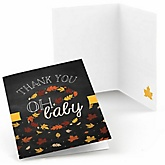 Oh Baby - Fall - Baby Shower Thank You Cards - Set of  8