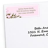 Baby Cherry Blossom - Personalized Baby Shower Return Address Labels - 30 ct
