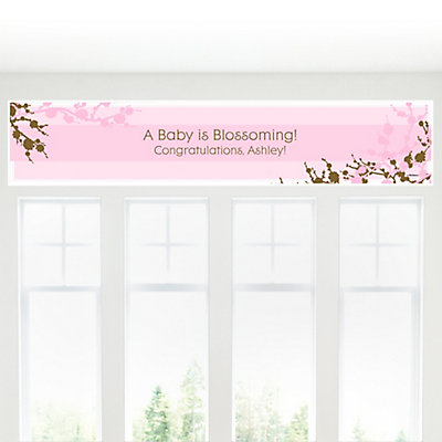 blossom personalized baby shower banners