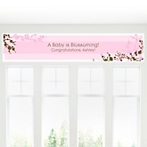 Cherry Blossom - Personalized Baby Shower Banner