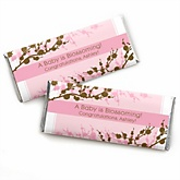 Baby Cherry Blossom - Personalized Baby Shower Candy Bar Wrapper Favors