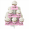 Baby Cherry Blossom - Baby Shower Cupcake Stand and 13 Cupcake Wrappers