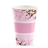 Baby Cherry Blossom - Baby Shower Hot/Cold Cups - 8 Pack