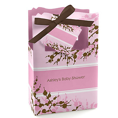 Baby Cherry Blossom - Personalized Baby Shower Favor Boxes...