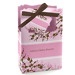 Baby Cherry Blossom - Personalized Baby Shower Favor Boxes