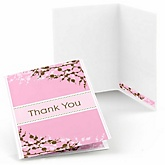 Baby Cherry Blossom - Baby Shower Thank You Cards - Set of  8