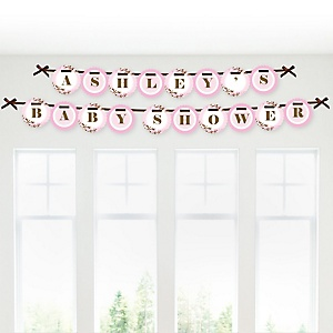 Baby Cherry Blossom - Personalized Baby Shower Garland Letter Banners