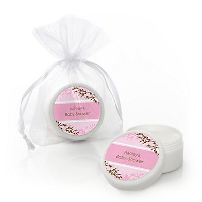 Baby Cherry Blossom - Personalized Baby Shower Lip Balm Favo...
