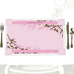 Baby Cherry Blossom - Personalized Baby Shower Placemats