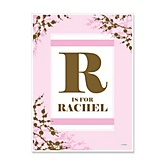 Baby Cherry Blossom - Personalized Baby Shower Poster Gifts