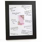Baby Cherry Blossom - Personalized Baby Shower Print with Signature Mat
