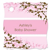 Baby Cherry Blossom - Personalized Baby Shower Tags - 20 Count