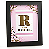 Baby Cherry Blossom - Personalized Baby Shower Wall Art Gift
