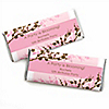 Cherry Blossom - Personalized Birthday Party Candy Bar Wrapper Favors