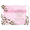 Cherry Blossom - Personalized Birthday Party Invitations