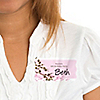 Cherry Blossom - Personalized Birthday Party Name Tag Stickers - 8 ct