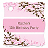 Cherry Blossom - Personalized Birthday Party Tags - 20 ct
