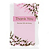 Cherry Blossom - Personalized Birthday Party Thank You Cards