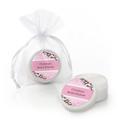 Cherry Blossom - Personalized Bridal Shower Lip Balm Favors...