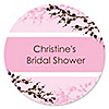Cherry Blossom - Personalized Bridal Shower Sticker Labels - 24 ct