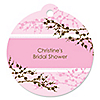 Cherry Blossom - Round Personalized Bridal Shower Tags - 20 ct