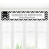 Chevron Black and White - Personalized Baby Shower Banners