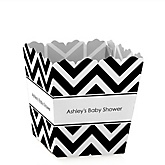Black and White Chevron - Personalized Baby Shower Candy Boxes