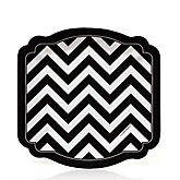 Black and White Chevron - Baby Shower Dessert Plates - 8 Pack