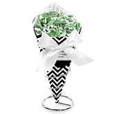 Black and White Chevron - Baby Shower Candy Bouquets with Frooties